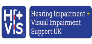 Hearing Impairment - Visual Impairment (Hi-Vis UK) Logo.